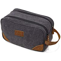 Kemy's Men's Canvas Toiletry Bag with Double Compartments (Several Colors)