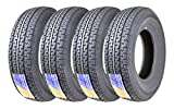 Set of 4 Premium FREE COUNTRY Trailer Tires ST 225/75R15 10PR Load Range E w/Featured Side Scuff Guard