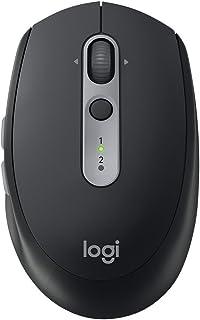 Logitech 罗技 M590 多设备静音无线鼠标 蓝牙鼠标 静音鼠标 蓝牙、优联 石墨黑