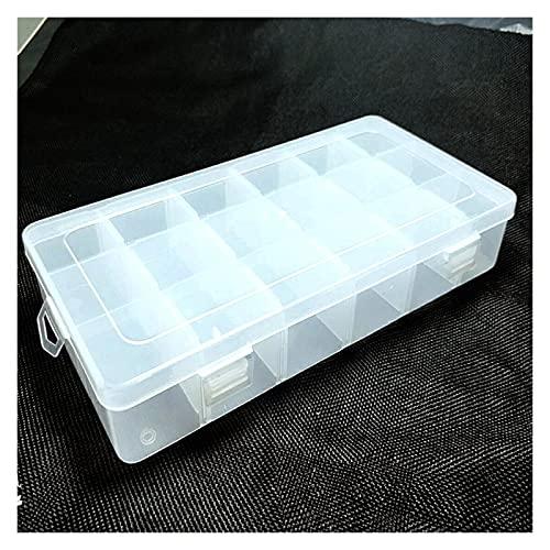 Mizuho 1pc Transparente Plástico Rectángulo 18 Caja de Almacenamiento en celosía Anillo...