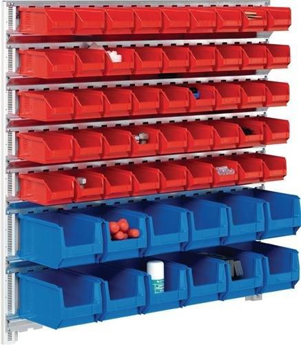 Magazijnset H1000xB1010mm m. 7 rails m.kasten 45xMK5 rood 12xMK4 blauw