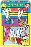 Educa 18890 Simón el Conejo. 2 Puzzles Infantiles de 20 Piezas. +3 años. Ref, Multicolor