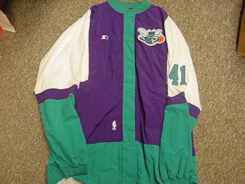 Elden Campbell Charlotte Hornets Game Worn Jacket