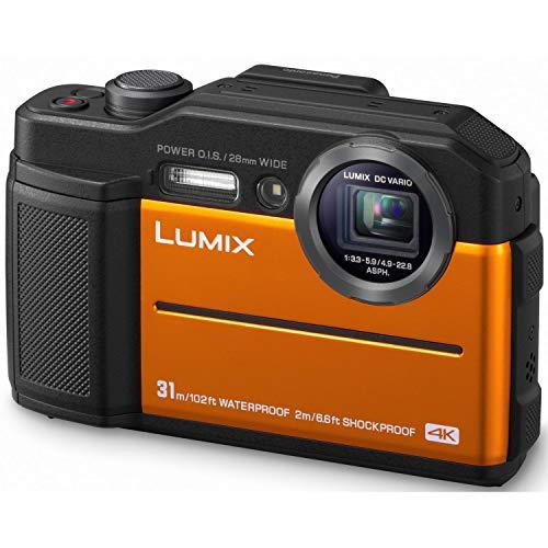 Panasonic Lumix Kamera DC-FT7EF-D (Sensor 20MP, Zoom Lumix 4.6X, wasserdicht bis 31 m, Gel bis -10 °, Sucher, LCD-Display, 4K Video, stabilisiert) Orange – Französische Version