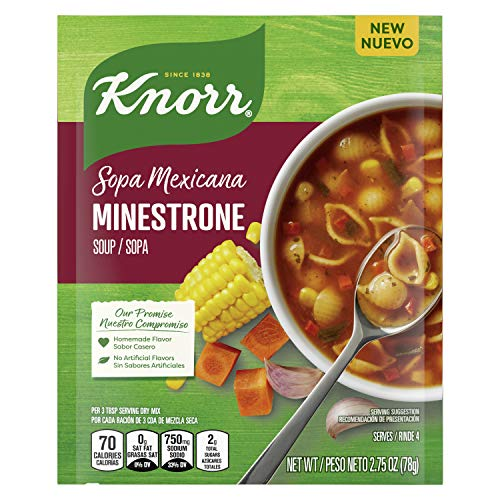 Knorr Sopa Mexicana/Mexican Soup Mix For A Warm Bowl of Soup or Simple Dinner Minestrone With No Artificial Flavors 2.75 Oz, 12 count, 33 Ounce