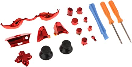 HOMYL 18-in-1 Replacement Button Kit for Microsoft Xbox One Controller Accessory Set Bundle with Opening Tool Screwdriver