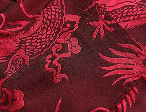 Tang Suit Men Hanfu Chinese Traditional Clothes Kung Fu Shirt Uniform Long Sleeved Coat Tops and Pants