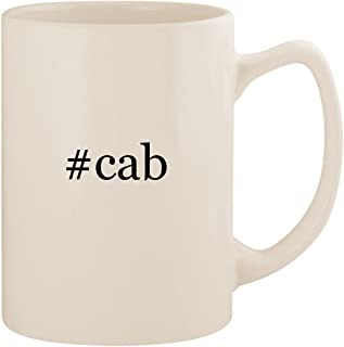#cab - White Hashtag 14oz Ceramic Statesman Coffee Mug Cup