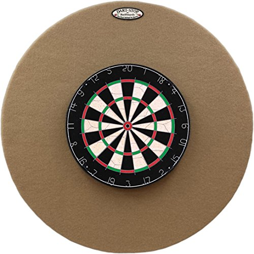 Dart-Stop 36 inch Round Tan Pro Dart Board Back Board | Wall Protector | Dartboard Surround