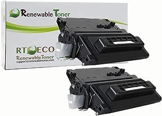 Renewable Toner Compatible Toner Cartridge Replacement for HP 90A CE390A Enterprise 600 M4555 M601 M602 M603 (Black, 2-Pack)