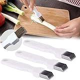 NJYBF 3 cuchillos de seda para cebolla Shred Silk The Knife, cortador de verduras multifuncional Shredder herramienta de cocina.