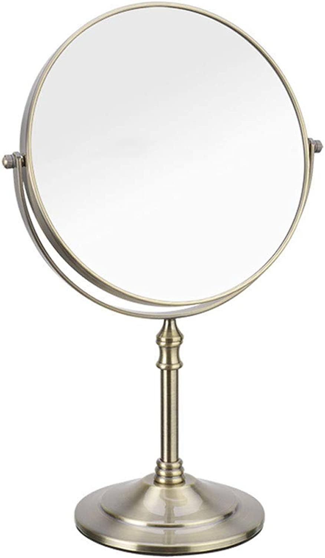 European Bronze color Makeup Mirror 8 Inch Mirror Portable Vanity Mirror Double Side Mirror (color   -, Size   -)