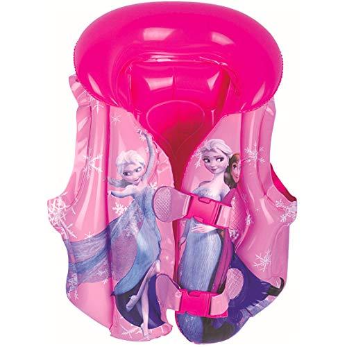 Gilet da Nuoto per Bambina - YUESEN Frozen Giubbotto di Galleggiabilità Gilet Gonfiabile Boccaglio per Immersioni,Gilet Ausiliare per il nuoto ,Giacca da Snorkeling per Bambini(Rosa)