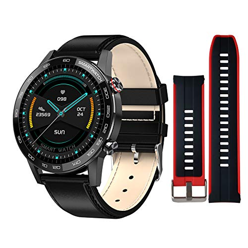 "Smart Watch HD for Android and iOS Phones,CKG Fitness Watch HD for Men and Women with 1.3"" Full Touch Super HD Retina Display, Activity Tracker,IP68 Waterproof,Compatible iPhone Samsung"