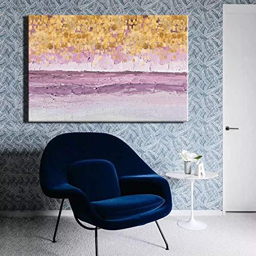 Sanzangtang schilderen van het moderne abstracte affiche gouden op zeildoek van het decoratieve schilderij van de kunstenaarswoonkamer Rahmenlos
