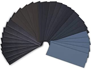 42 Pcs Wet Dry Sandpaper 120 to 3000 Grit Assortment 9 3.6 Inches Abrasive Paper Sheets for Automotive Sanding Wood Furnit...