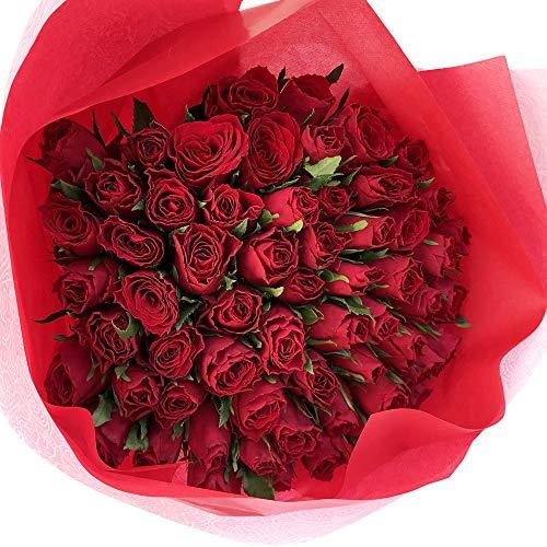 フラワーキッチン 赤バラ 60本 花束 還暦祝い 配送地域限定商品