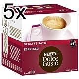Nescafé Dolce Gusto Espresso Decaffeinato - Pack de 5, 4 x 16 cápsulas por Nescafé