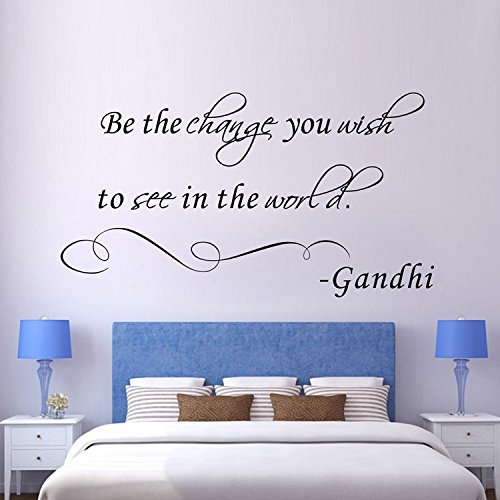Inspiring Sayings stickers be The Change you wish to see vinyl Wall Art Inspirational citazione per camera bambini