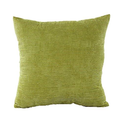 ZXKEE cojines Cover Superficie del gránulo decorativos funda cojin Plaza 45x45 cm (Verde)