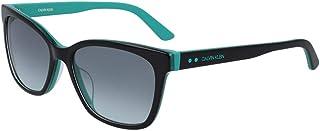 نظارة شمسية للنساء من كالفن كلاين، لون اسود، 55 ملم - CK19503S