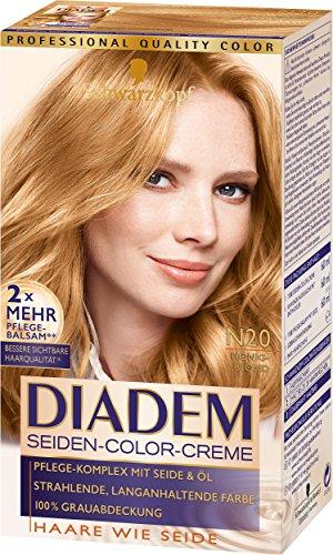 Schwarzkopf Diadem Seiden-Color-Creme, dauerhafte Haar-Coloration, N20 Honigblond Stufe 3, 3er Pack (3 x 180 ml)