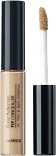 [the SAEM] Cover Perfection Tip Concealer SPF28 PA++ 6.5g #1.5 Natural Beige - High Adhesive Concealer without Clumping and Cracking, Covers Blemishes, Freckles and Dark Circles