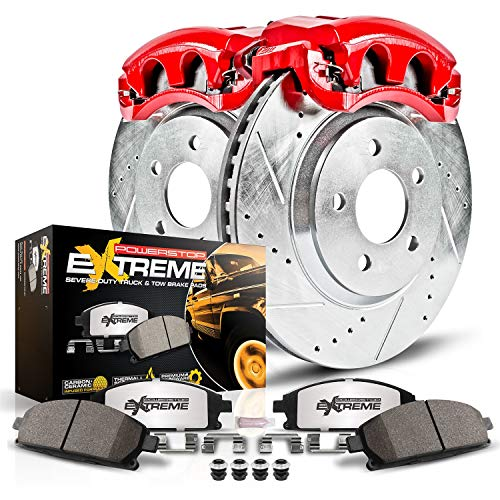 Power Stop KC5490-36 Rear Z36 Truck and Tow Brake Kit with Calipers