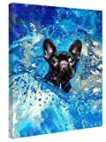 Modern Canvas Home Art Printing, Picture Printing Poster On Canvas For Living Room, Bedroom, Kitchen, Bathroom, Office Wall Decoration(French Bulldog Frenchie Dog)