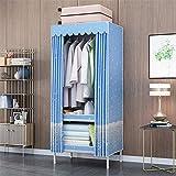Closet Storage Closet Clothes Portable Organizador de Vestuario de Ropa de Armario con estantes Colgantes y estantes portátiles Independientes Cubiertos Wardrobe Closet Organizer Shelf Wardrobe