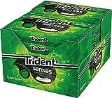 Trident Senses Spearmint- Chicles sin Azúcar con Sabor a Hierbabuena- Paquete de 12 envases de 23 g