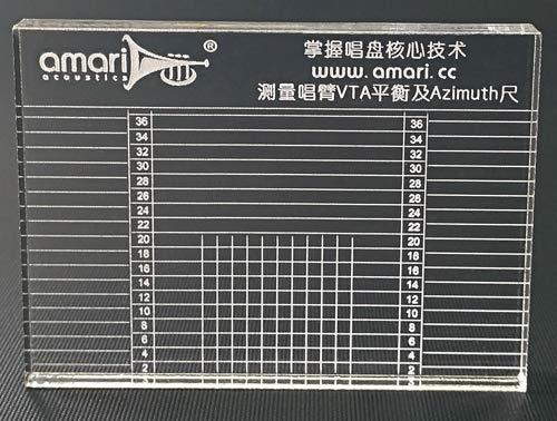 Amari Acoustics VTA-Schablone, Plattenspieler Justage