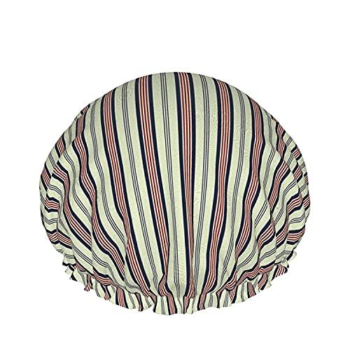 Gorro de ducha de baño de estilo retro de color Sombreros de baño reutilizables elásticos para mujeres Impermeables y ajustables