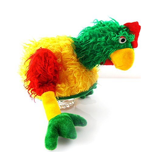 Fiesta Palace - bonnet peluche coq rouge jaune vert
