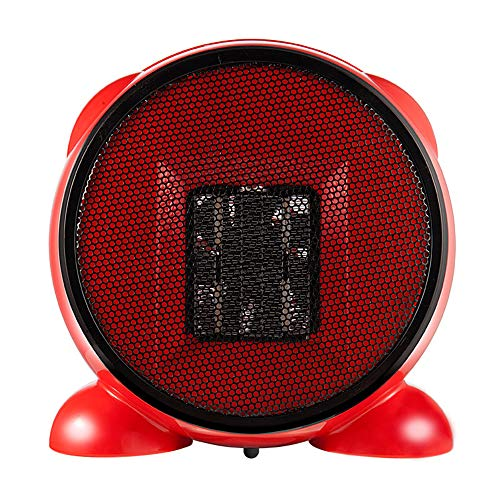CHUSHENG Cartoon Mini Space 500W Heater with Silent Operation with Overheat and Drop Protection Features, Best Winter Gift Built-in Handle for Easy Carrying,Red