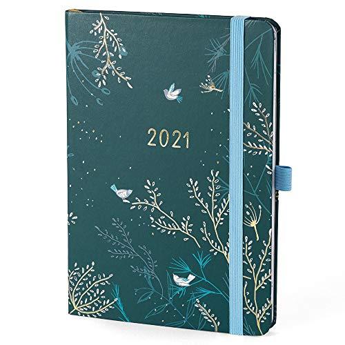 Agenda 2021 Everyday Boxclever Press A5. Planner settimanale con schema verticale. Agenda settimanale Gen - Dic 21. Diario 2021 per obiettivi e progetti con etichette, tasca e altro.
