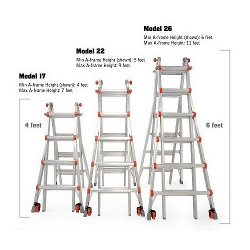 Little Giant Classic 10103LGW 300-Pound Duty-Rating Ladder System with Work Platform, 22-Foot