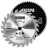 2 pz lame per seghe circolari professionali TECCPO 115mm x 10mm, 1 x TCT 24 lame per legno...