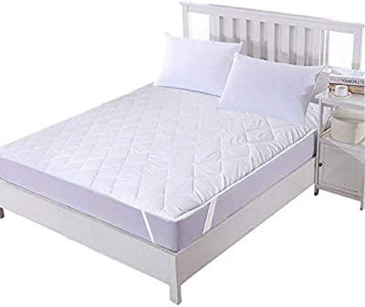 Kuber Industries Exclusive Microfiber Waterproof Double Bed Mattress Protector 78x60 Inches (White),Queen Size-KESHAVC3816