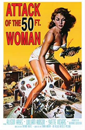 Studio B Attack of The 50 Foot Woman Movie Poster 24x36 inch