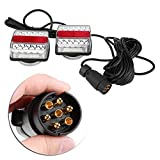 fanali posteriori rimorchio, Qiilu Auto Blocchi fari posteriori 1 paio di luci magnetiche per rimorchio a LED per rimorchio con fanale posteriore e lampada da 10 m(Si applica solo a sinistra)