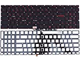 Foto Tastiera tedesca con illuminazione rossa, senza telaio, per MSI GS70 2QE Stealth Pro, GS70 2QE81, GS70 2QE8H11, GS70 2QE16SR51, GS70 2QE16SR51S, GS70 65M2162