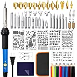 Wood Burning Kit,83PSC Wood Burning Tool with Adjustable Temperature Professional DIY Wood and Leather Burning Tool Set for Embossing, Carving and Soldering