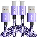 Câble USB C [1M Lot de 2], JALIXI Cable USB Type C 3A Charge Rapide, Résistant Chargeur en Nylon...