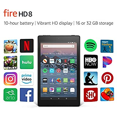 """Certified Refurbished Fire HD 8 Tablet (8"""" HD Display, 16 GB) - Black (Previous Generation - 8th) by Amazon"""
