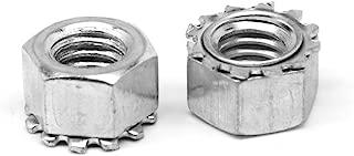 1//2-13 Coarse Thread Grade C Stover All Metal Locknut Medium Carbon Steel Zinc Plated and Wax Pk 50