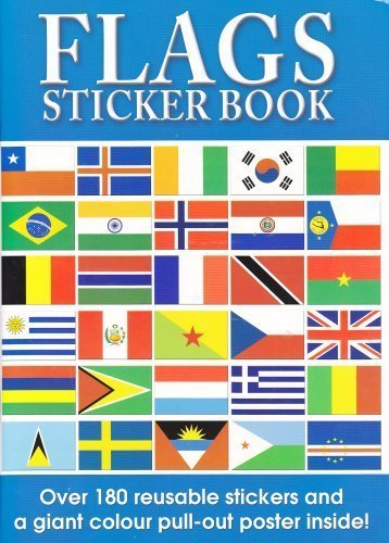 Vlaggen van het World Sticker Book en World Poster multi