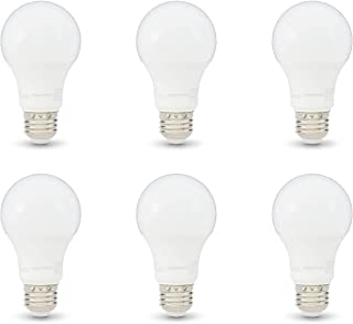 AmazonBasics 75W Equivalent, Soft White, Non-Dimmable, 10,000 Hour Lifetime, A19 LED Light Bulb | 6-Pack