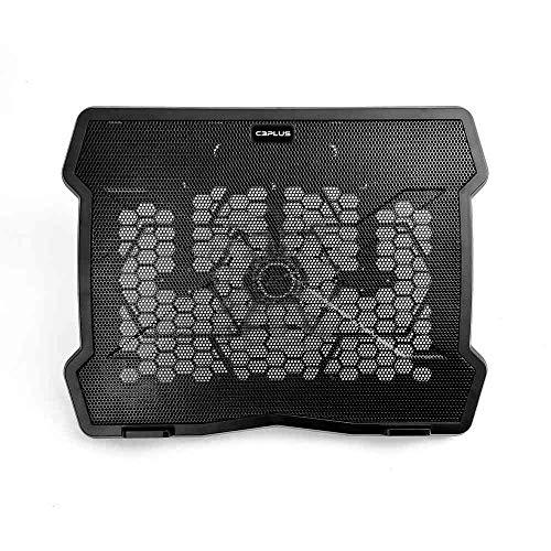 """Base para Notebook C3Plus NBC-01BK 14"""" Preto - Refrigerada com Cooler de 140mm Notebooks até 14"""" Ajustável"""