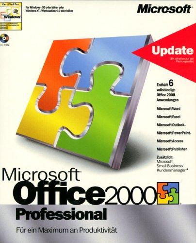 Microsoft Office 2000 Professional Update von Office x.x oder MS-Einzelapplikationen D